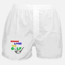 Brenna Lives for Golf - Boxer Shorts