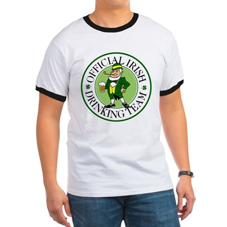 Irish Drinking Team Leprechaun RingerT