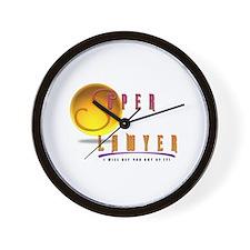 Unique Super lawyer Wall Clock