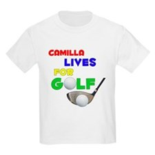 Camilla Lives for Golf - T-Shirt