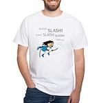 Miko: Slash! Slash! Slash! White T-Shirt