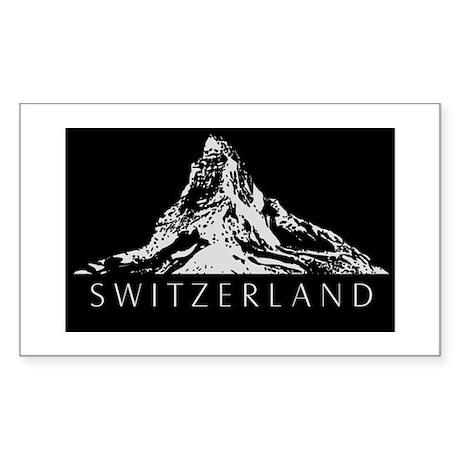 Swiss foil Rectangle Sticker