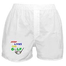 Josef Lives for Golf - Boxer Shorts