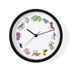 The Twelve Gods Wall Clock