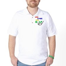 Jude Lives for Golf - T-Shirt