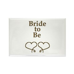BRIDE TO BE Rectangle Magnet (10 pack)