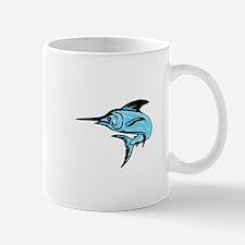 Blue Marlin Fish Jumping Drawing Mugs