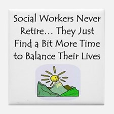 Retirement Gifts Tile Coaster