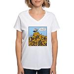 Sexy Shoeless God of War! Women's V-Neck T-Shirt