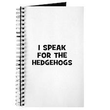 I Speak For The Hedgehogs Journal