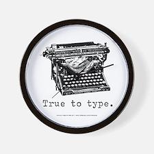 True to type Wall Clock