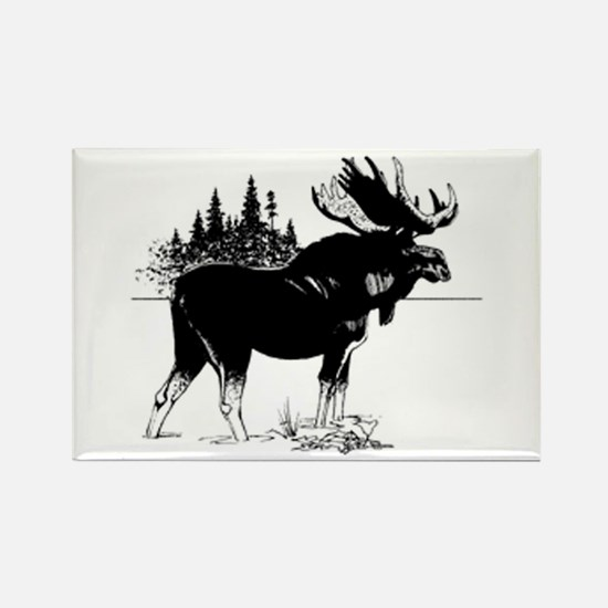 Moose Rectangle Magnet