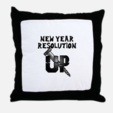 Resolution Screw Up Throw Pillow
