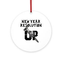 Resolution Screw Up Ornament (Round)