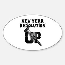 Resolution Screw Up Oval Decal