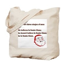 Three Santa Stages of Life Tote Bag
