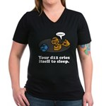 Your d12 Cries... Women's V-Neck Dark T-Shirt