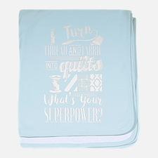 Quilt Superpower baby blanket