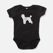 Poodle White 1 Baby Bodysuit
