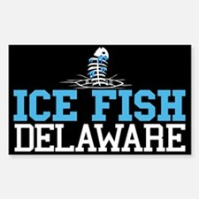 Ice FIsh Delaware Rectangle Decal