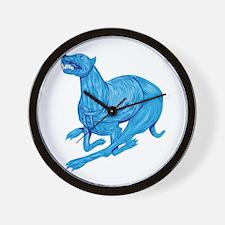 Greyhound Dog Racing Drawing Wall Clock