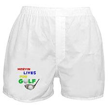 Marvin Lives for Golf - Boxer Shorts