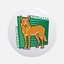 Australia Dingo Ornament (Round)