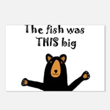 Bear Telling Fish Story Postcards (Package of 8)