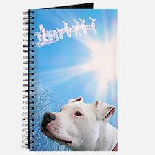 Cute Christmas pit bull Journal