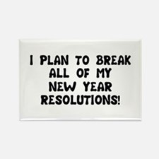 Breaking Resolutions Rectangle Magnet