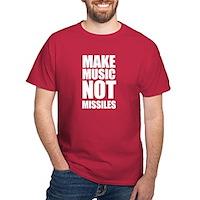 Make Music, Not Missles Dark T-Shirt