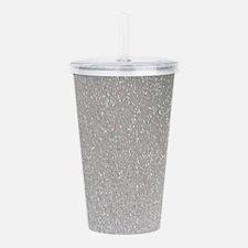 metalic pearl silver g Acrylic Double-wall Tumbler