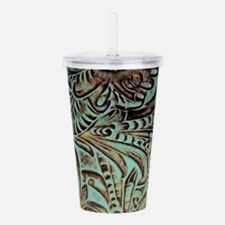 Western country Turquo Acrylic Double-wall Tumbler