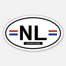 Netherlands 2F Oval Stickers