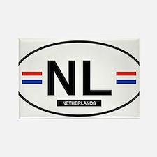 Netherlands 2F Rectangle Magnet