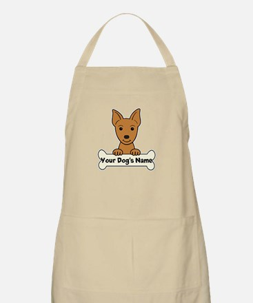 Personalized Min Pin Apron