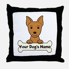 Personalized Min Pin Throw Pillow
