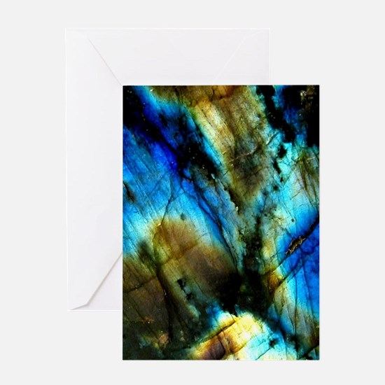 tribal bohemian marble turquoise Greeting Cards