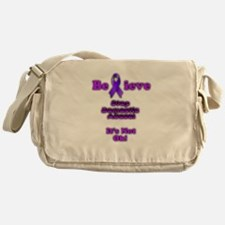 Domestic Abuse Awareness Messenger Bag