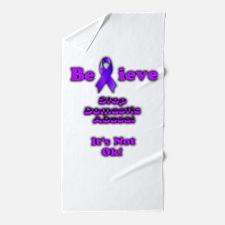 Domestic Abuse Awareness Beach Towel