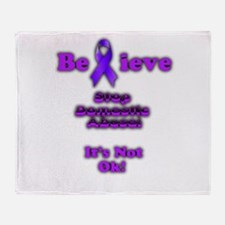 Domestic Abuse Awareness Throw Blanket