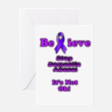 Domestic Abuse Awareness Greeting Cards