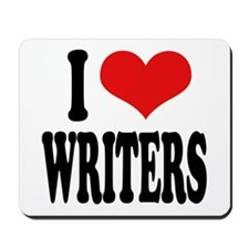 I Love Writers Mousepad
