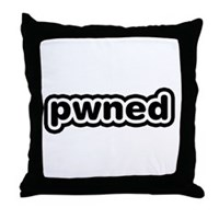 Pwned Throw Pillow