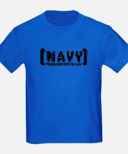 Proud NAVY MthrNlaw - Tattered Style T