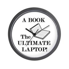 A BOOK THE ULTIMATE LAPTOP Wall Clock