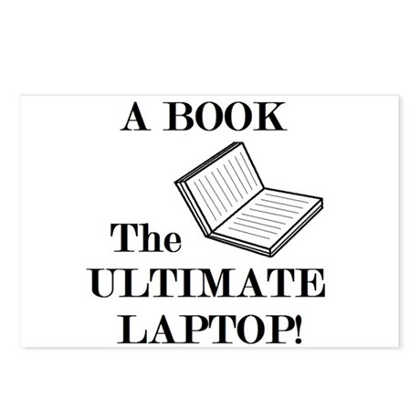 A BOOK THE ULTIMATE LAPTOP Postcards (Package of 8