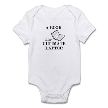 A BOOK THE ULTIMATE LAPTOP Infant Bodysuit