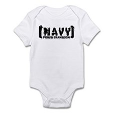 Proud NAVY Grndsn - Tattered Style Infant Bodysuit
