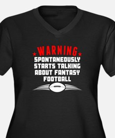Talking About Fantasy Football Plus Size T-Shirt